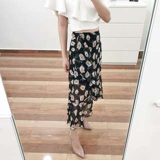 Brand new chiffon floral skirt