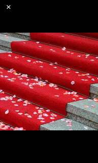 50M Length Red Carpet for weddings/events/parties