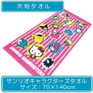 🇯🇵✨日本直送✨ Sanrio Characters - Large Bath Towel (Rolling Summer)  ✨