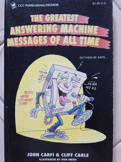 The Greatest Answering Machine Messages of all Time