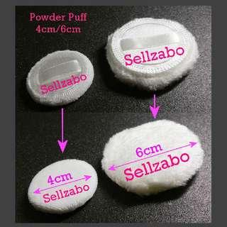 Handle Loose Compact Powder Apply Puff : 4cm/6cm Face Facial White Colour Makeup Cosmetics Beauty Applicators Sponges Foundation Sellzabo