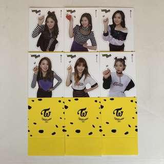Twice Coaster Lane 2 立牌 Tzu Yu 子瑜 Sana Mina Ji Hyo 志效 Chae Young 彩瑛 Jeong Yeon 定延