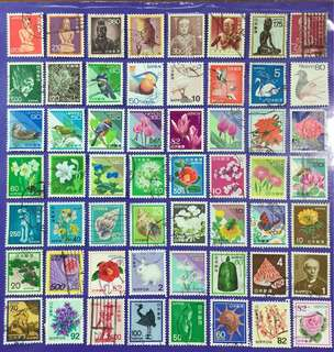 Different 56 pcs Japan Nippon Used Stamps