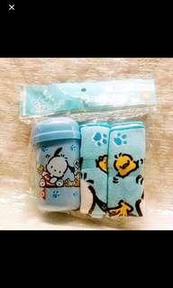 Sanrio 2004 絕版罕有 Pochacco PC狗 手巾仔套裝 2條手巾 1個手巾筒