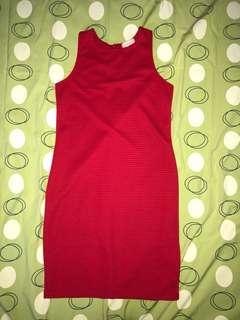 Pencil cut red dress