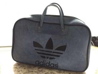 Vintage Adidas Peter Black Originals Trefoil Blue Weekend Holdall Bag 袋
