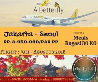 Promo Tiket Pesawat Jakarta - Seoul By Royal Brunei