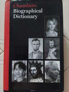 🚚 Chambers Biographical Dictionary, Eighth edition.