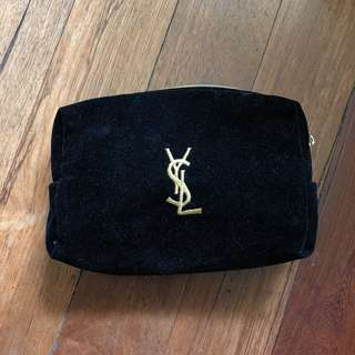 YSL Velvet Makeup Pouch Bag