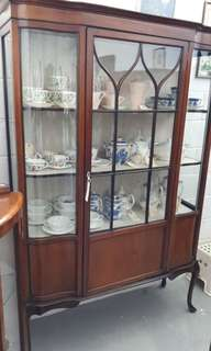 Antique Edwardian Curiosity display cabinet