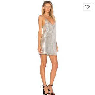 Amuse society silver slip dress