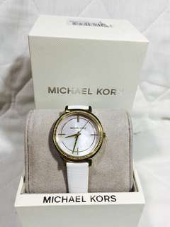 Michael kors watch for ladies white/ leather