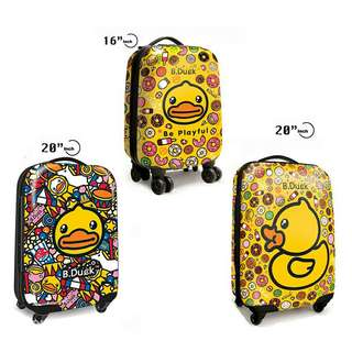 "*FREE DELIVERY to WM only / Ready stock* Duck design luggage 16"" 20"" each as shown in design/color from RM99 16"" - RM109 20"". Free delivery is applied for this item."