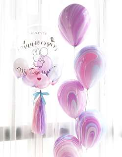 🚚 Customized clear balloon (Helium inflated)