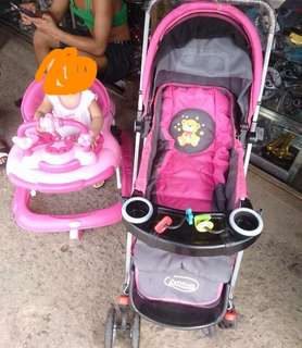 Preloved stroller and walker