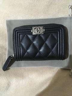 🚚 Chanel 復古銀釦 小羊皮 零錢包 短夾