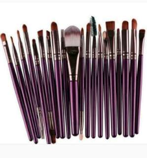 Purple Bronze brushes 20 pcs Make up / makeup Brush brushes Set