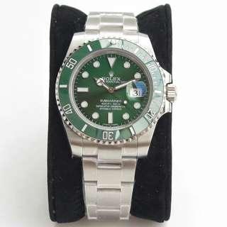 勞力士Rolex潛航者型系列116610LV-97200 40mm男機械錶綠盤腕表綠水鬼