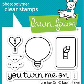 Lawn Fawn Turn Me On Clear Stamps