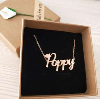 CUSTOM NECKLACE   GOLD,  ROSE GOLD,  PLATINUM   FREE SHIPPING