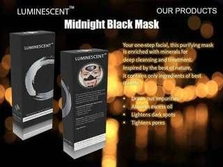 Midnight black mask