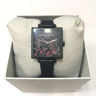 *NEW* Olivia Burton After Dark Square Watch Black