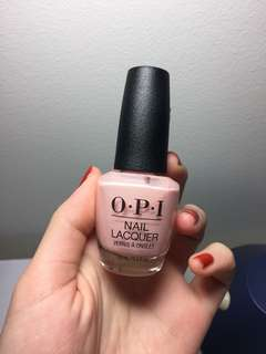 OPI nail polish bubble bath