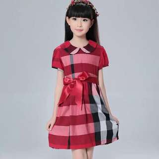 RED COLLAR KIDS DRESS JLH