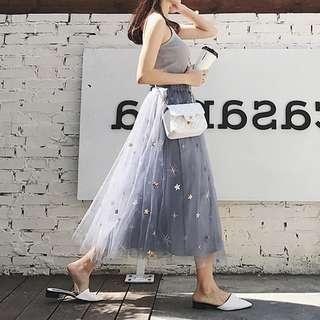 [PO] Starry Tutu Maxi Skirt
