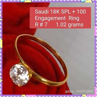 PAWNABLE ENGAGEMENT RING SIZE:7