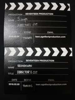 Seventeen Scoups/Seungkwan Director's Cut Business Card