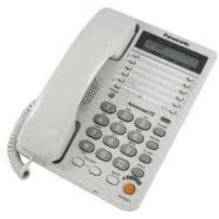 Panasonic KX-T2375MXW Corded Landline Phone Numerical Keypad Handsfree Speaker