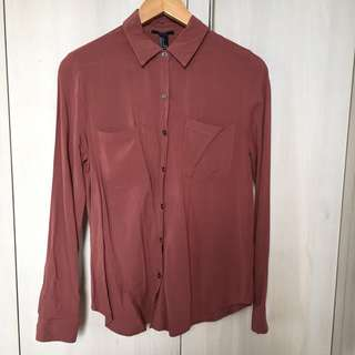 Forever 21 Brown Long Sleeves
