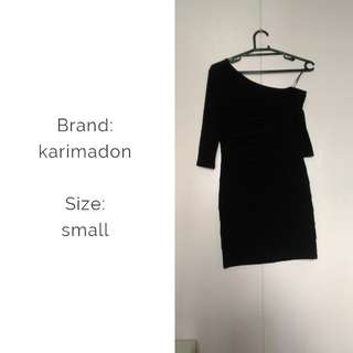 Karimadon black cocktail body con dress