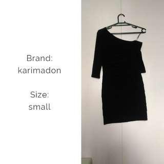 Karimadon black cocktail body con dress