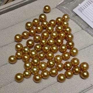 菲律賓金珠耳環 11-12mm