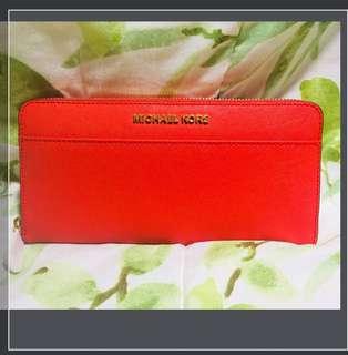 Michael kors jet set wallet cherry red