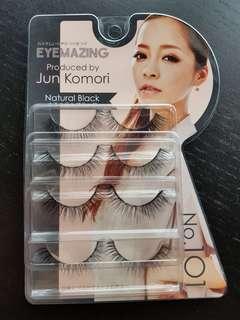 Eyemazing natural black no.101 eyelashes (4pairs)