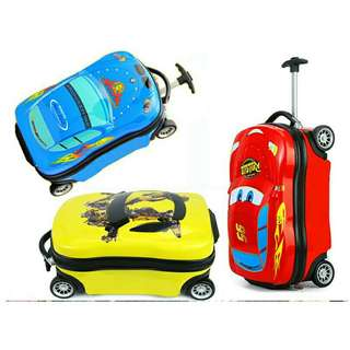 "*FREE DELIVERY to WM only / Ready stock* 17"" kids car design luggage / school bag each as shown in design/color. Free delivery is applied for this item."