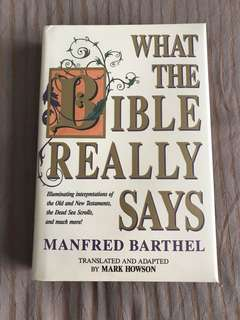 What the Bible Really Says by Manfred Barthel