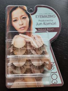 Eyemazing natural brown no.103 eyelashes (4pairs)