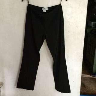 Plains and Prints Plain black slacks