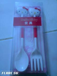 Hello kitty spoon and fork