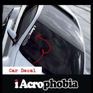 Decal For Car iAcroPhobia