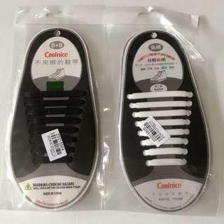 No tie shoelaces elaatic silicone shoelace