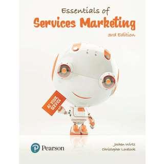 Essentials of Services Marketing 3rd Third Edition by Jochen Wirtz, Christopher Lovelock - Pearson (2018)