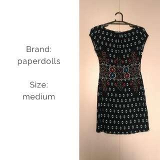 Paperdolls printed dress
