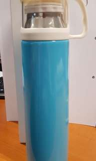 25cm tall blue Thermal Flask