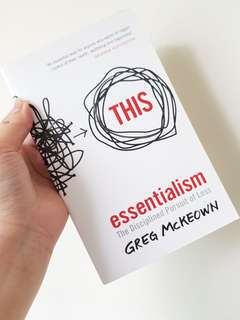 🚚 LN THIS, ESSENTIALISM PAPERBACK