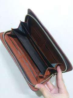 Plain brown wallet